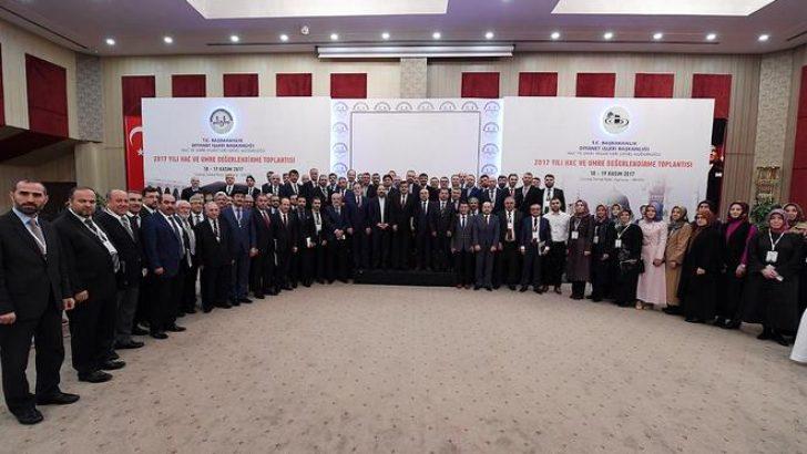 2017 Yılı Hac ve Umre Değerlendirme Toplantısı yapıldı