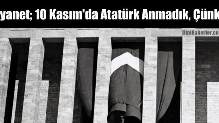 Diyanet, 10 Kasım'da Atatürk Anmadık, Çünkü..