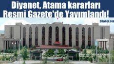Diyanet Atama kararları Resmi Gazete'de Yayımlandı!