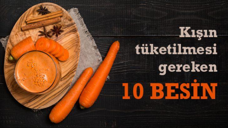 Kışın tüketilmesi gereken 10 besin