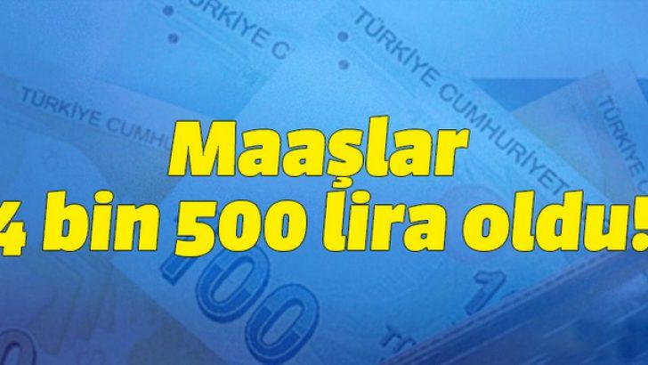 Öğretmenlere 4.500 lira maaş