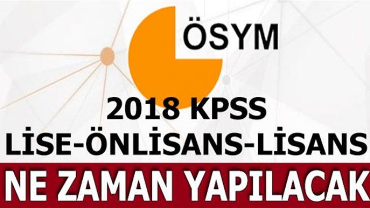 2018 KPSS önlisans ve lisans sınav tarihi! ÖSYM kesin tarihi…