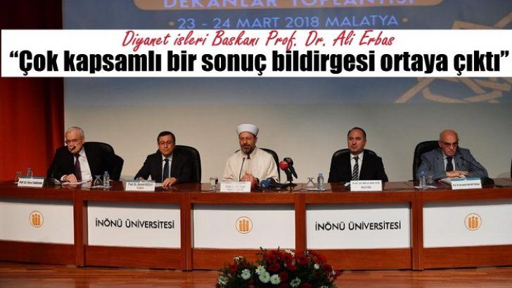 """""""24. İlahiyat ve İslami İlimler Fakülteleri Dekanlar Toplantısı""""nın sonuç bildirgesi açıklandı"""