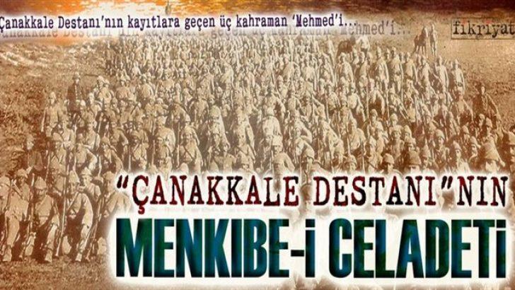Çanakkale Destanı'nın: 3 Mehmed'i