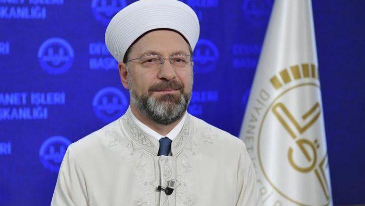 Diyanet İşleri Başkanı Erbaş'tan Regâib Kandili mesajı