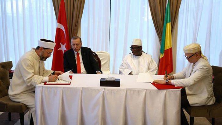"""Mali Cumhuriyeti ile """"Din Hizmetleri Alanında Mutabakat Zaptı"""" imzalandı"""