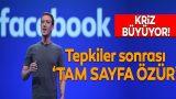 Facebook'tan 'tam sayfa özür'