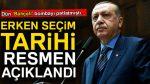 Erdoğan açıkladı: Türkiye erken seçime gidiyor!