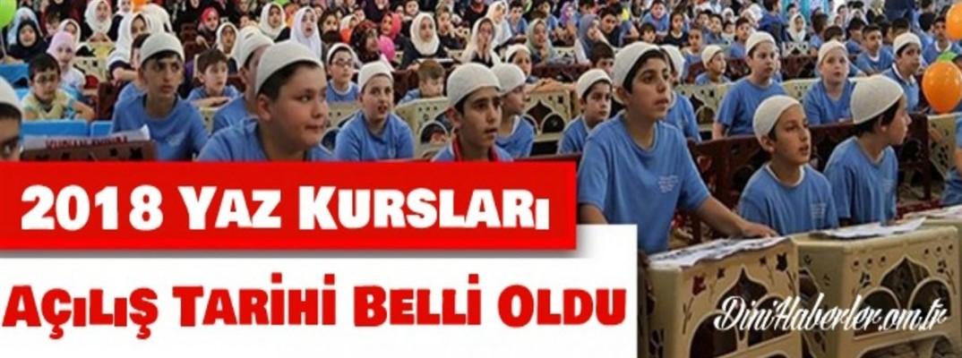 Yaz Kur'an Kursları 25 Haziran'da açılacak