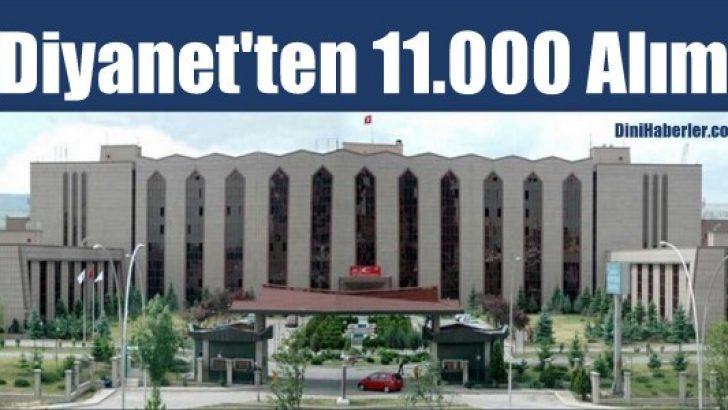Diyanet'ten 11 Bin Alım