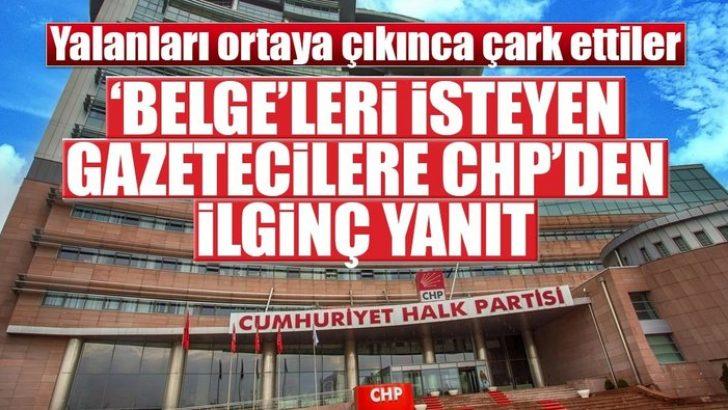 Gazeteciler Belge İstedi CHP Veremedi