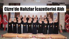 Cizre'de 30 Hafız İcazetlerini Aldı