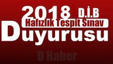2018 yılı I. DönemHafızlık Tespit Sınav Duyurusu