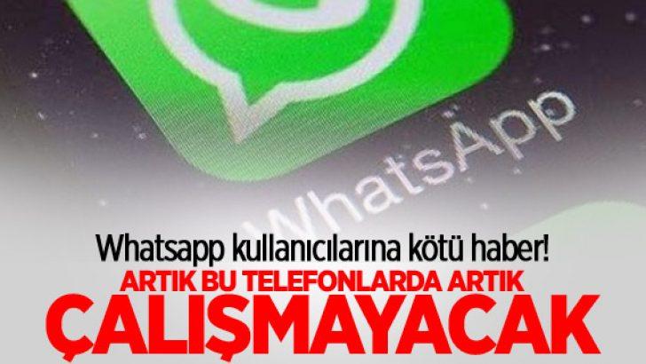 WhatsApp artık bu telefonlarda çalışmıyor