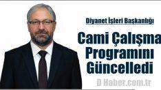 Diyanet Cami Çalışma Programını Güncelledi
