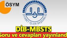 DİB-MBSTS: Diyanet İşleri Başkanlığı Mesleki Bilgiler Seviye Tespit Sınavı